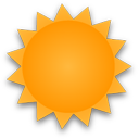 Die Sonne scheint den ganzen Tag, Wolken sind kaum zu sehen... Klick für mehr Infos