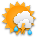 Nach einem wolkenlosen Start kommen teils gewittrige Regenschauer auf.... Klick für mehr Infos
