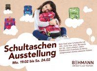 Große Schultaschen-Ausstellung bei SKRIBO Behmann (19. - 24.02)
